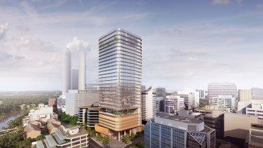 A Parramatta City Council Design Competition jury has chosen the design by Fender Katsalidis for GPT's 32 Smith Street Parramatta office tower