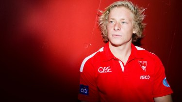 Date with destiny: Isaac Heeney has become one of the AFL's hottest prospects.