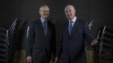 Philip Lowe (left) will take over from Glenn Stevens as RBA governor next month.