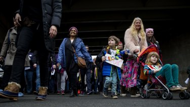 Women's March demonstrators in Washington on Saturday.