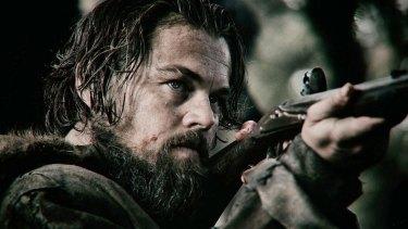 Leonardo Di Caprio in the gritty Oscar-winning movie The Revenant.