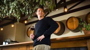 Dylan Grimes, seen here at his Mt Macedon Winery, was the reason Richmond began their mindfulness program.