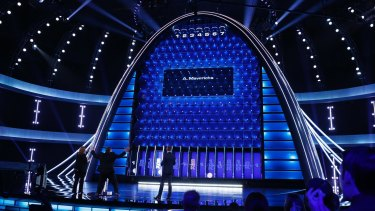 NBC's The Wall features a dazzling four-storey set.