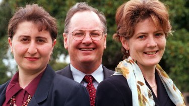 Berejiklian with Catherine Cusack (right) and Ron Phillips (centre), former opposition spokesman for health.