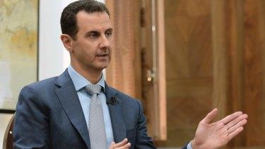 Syrian president Bashar al-Assad speaks in February.