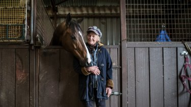 'I cried and cried': Clarke was overjoyed when Heza Dude won his first race at Moe in 2013.
