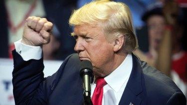 Bloke power: Republican presidential candidate Donald Trump.