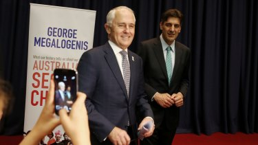 Prime Minister Malcolm Turnbull helped launch George Megalogenis' book Australia's Second Chance at Parliament House in Canberra.
