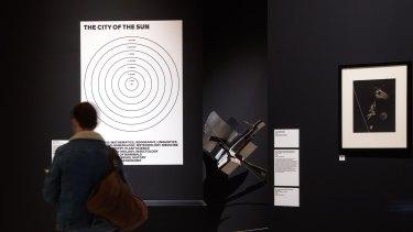 """Diagram of Tommaso Campanella's 16th-century idea of the """"City of the Sun""""."""