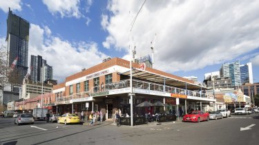 """The sprawling """"Munro site"""", which includes the Mercat Cross Hotel, next to the Queen Victoria Market."""