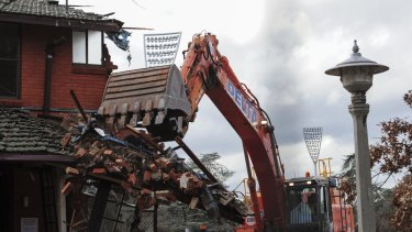 Demolition work has taken more than six weeks but the development project is going smoothly.