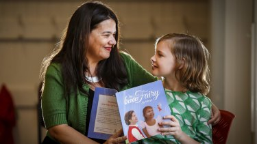 Jo Hirst launches her book with Evie, a 10-year-old trangender girl.