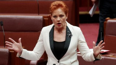"One Nation leader Pauline Hanson wants the ABC to disclose presenter salaries and insert the words ""fair and balanced"" into its charter."