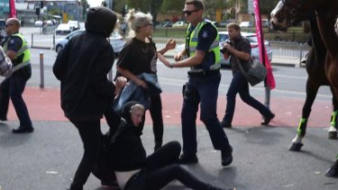 Police focused on stopping the violence rather than arresting the demonstrators.