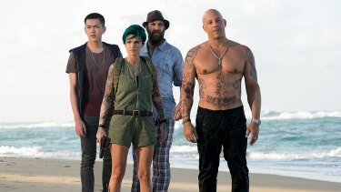 Rainbow casting: (from left) Kris Wu as Nicks, Ruby Rose as Adele Yusef, Rory McCann as Tennyson and Vin Diesel as Xander Cage in <i>xXx: Return of Xander Cage</i>.