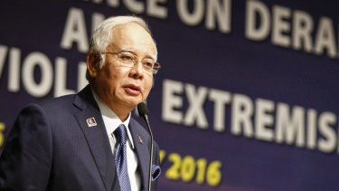 Malaysian Prime Minister Najib Razak at a conference in Kuala Lumpur in January.