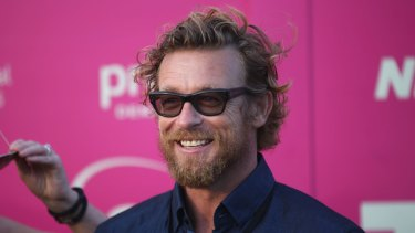 """""""I knew I had to somehow make the film"""": Simon Baker on the red carpet at Tropfest last year."""
