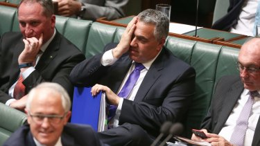 Holding firm: Treasurer Joe Hockey in question time.