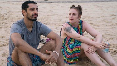 Dunham with (brief) on-screen love interest, Paul-Louis (played by Riz Ahmed).