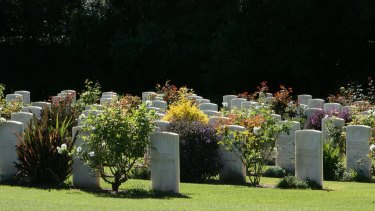 Graves at the Sydney War Cemetery in Rookwood.