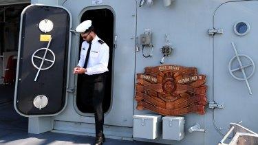 Ship-shape onboard HMAS Hobart.