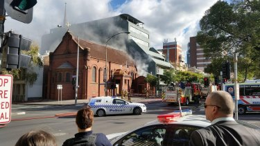 Fire takes hold of Victoria's oldest Greek Orthodox church on Monday afternoon.