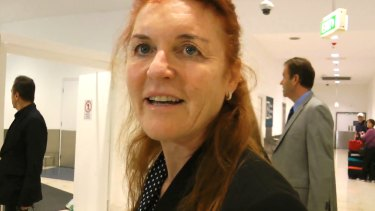 Sarah Ferguson has arrived back in Sydney for the first time in 13 years.