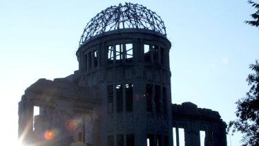 The skeleton A-bomb dome in Hiroshima.