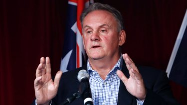 Former politician Mark Latham speaking to the media during a press conference on the Save Australia Day Campaign Launch in Sydney January 10, 2018.