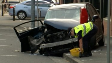 The collision in central Hobart left a young mother dead.
