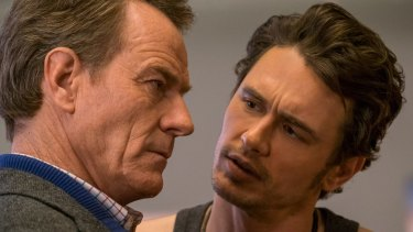 Popular ... Bryan Cranston and James Franco in the MA-rated comedy <i>Why Him?</i>