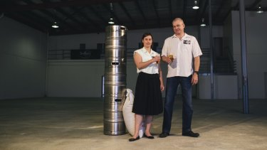 Tracy Margrain and Richard Watkins, owners of BentSpoke Brewery in Braddon, are opening a new venue and canning facility in Mitchell.