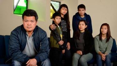 Antonio Enriquez with his family.