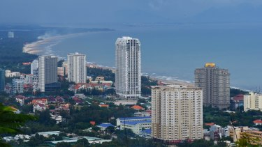 General view today overlooking what was known as the Back Beach in Vung Tau.
