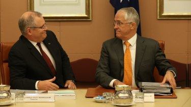 Prime Minister Malcolm Turnbull and federal Treasurer Morrison have been testing the waters on a company tax cut.