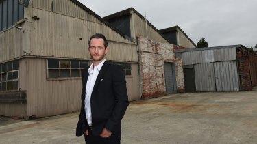 Developer Tim Gurner at his Fitzroy North site.