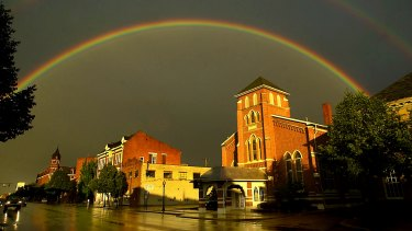 Downtown Chillicothe, Ohio. The town, population 21,000, rarely makes the news.