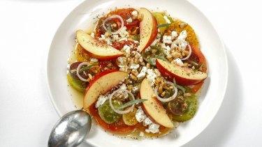 Heirloom tomato crudo.