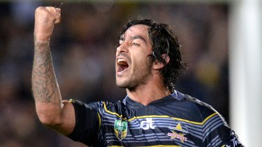 Fighting fit: Johnathan Thurston has dismissed any suggestion the Cowboys won't be at their best for the preliminary final after their tough win against Brisbane.