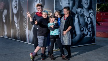 The Marlow family of Callum, Felicity, Rafi, Sarah and Maude, photographed at the Gayby Exhibition last year.