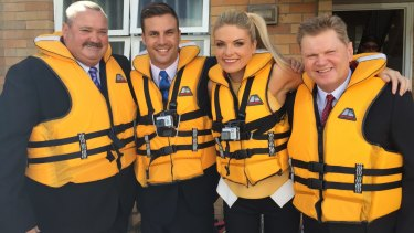 On the rocks: Daryl Brohman, Beau Ryan, Erin Molan and Paul Vautin, from The Footy Show.