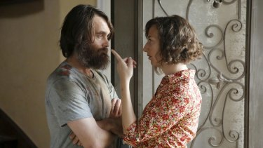 """Last Man On Earth MM-14-7-19  THE LAST MAN ON EARTH:  Carol (Kristen Schaal, R) has a proposal for Phil (Will Forte, L) in the second half of the """"Alive in Tucson/The Elephant in the Room"""" special one-hour Series Premiere episode of THE LAST MAN ON EARTH airing Sunday, March 1 (9:00-9:30/9:30-10:00 PM ET/PT) on FOX.   ©2015 Fox Broadcastiing Co.  Cr:  Jordin Althaus/FOX"""