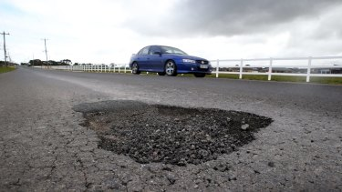 Potholes are causing wear and tear to vehicles and increasing costs to the community.