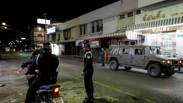 A series of coordinated blasts across Southern Thailand killed at least four people and injured dozens.