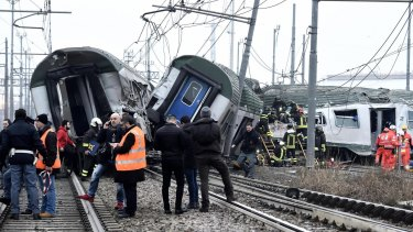 The train was travelling at normal speed and maintenance work has recently been carried out on the track, authorities said.