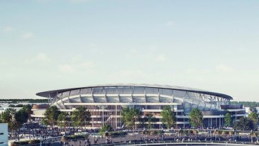An artist's impression of what the new Allianz Stadium will look like. The stadium is built entirely on SCG Trust lands.