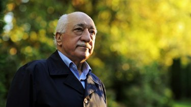 Turkish Islamic preacher Fethullah Gulen at his home in the US in 2013. (AP Photo/Selahattin Sevi, File)