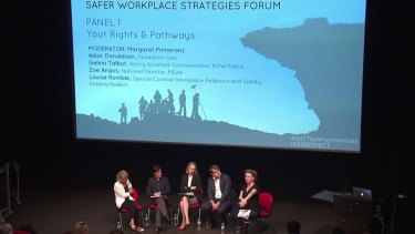 The Safer Workplace Strategies Forum in Sydney on Tuesday.