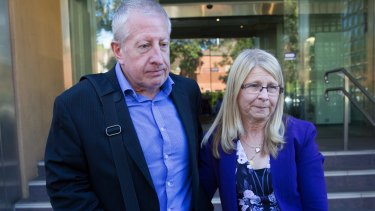 Matthew Leveson's parents, Faye and Mark Leveson, at the inquest.