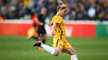 The Matildas will face Brazil in front of a sold-out crowd in Penrith.